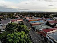 Vista aérea de la calle tercera de la ciudad de Santiago de Veraguas