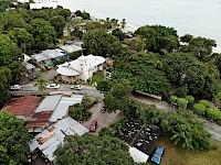 Vista aérea de Iglesia Virgen del Carmen de  Farallón provincia de Coclé, Panamá.