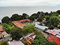 Vista aérea del Colegio de Farallón, Coclé , Panamá.